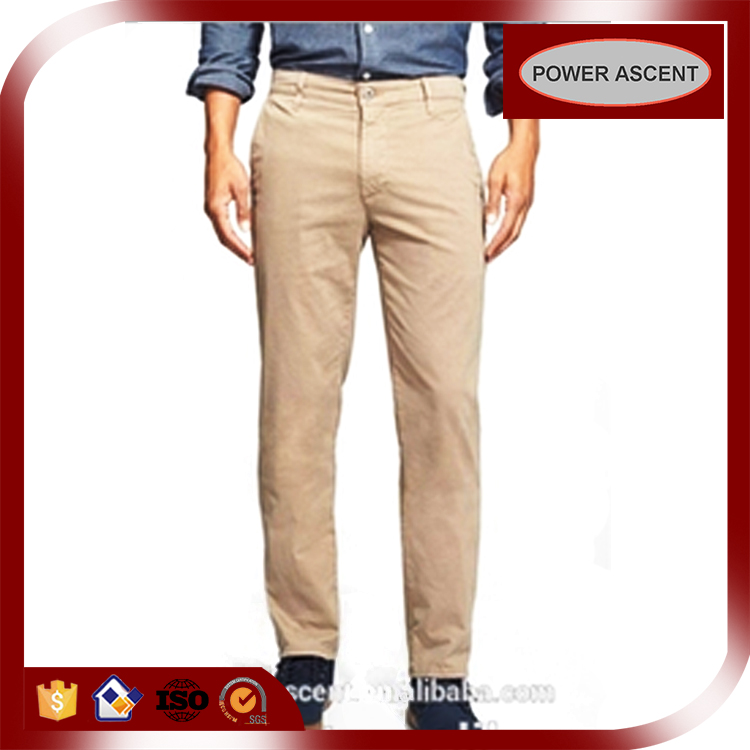 Wholesale Customized Straight Leg Men's Cotton Chinos Khaki Pants