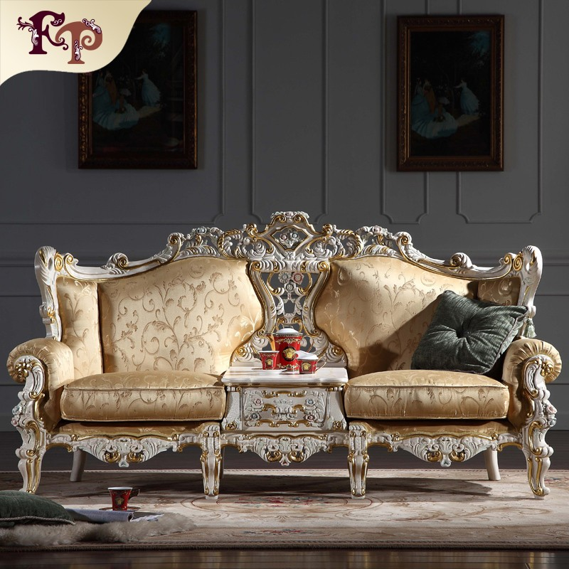 Europe Style Modern King Sofa For Living Room Long Shaped Set 9915 Wooden Furniture Model Palace Royal Soft French Provincial