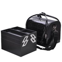 Removable Tray Jewelry Ring With Crocodile Makeup Cosmetic Train Bag Handbag Case
