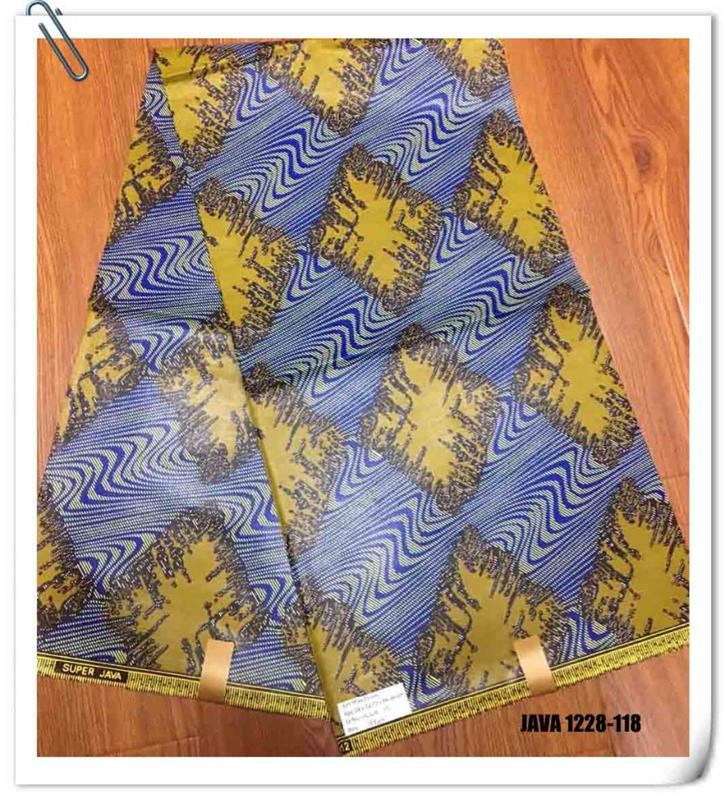 Best selling colorful african wax prints fabric 6 yards java soft cotton cloth price