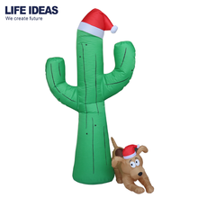 210cm/7ft giant Christmas decoration inflatable cactus with tree