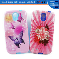 Competitive Price TPU+PC Case For iPhone 4S, 4S Water Printing Protector