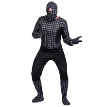 High Quality Wholesale Customized Cosplay Costume adult men black Tight Elastic adult Spiderman Costumes