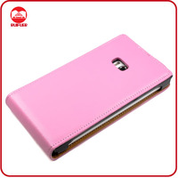 High Quality Sublimation Genuine Leather Slim Fit Flip Cell Phone Case for Nokia Lumia 900