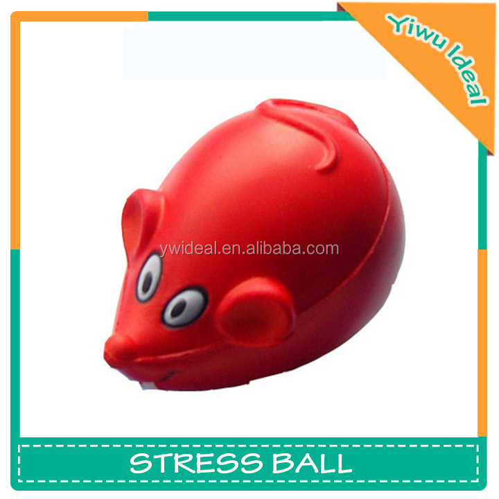 Custom Animal Reliever PU Mouse Stress Ball