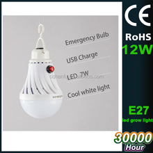 China supplier 12w USB charging led light bulb with E27 base