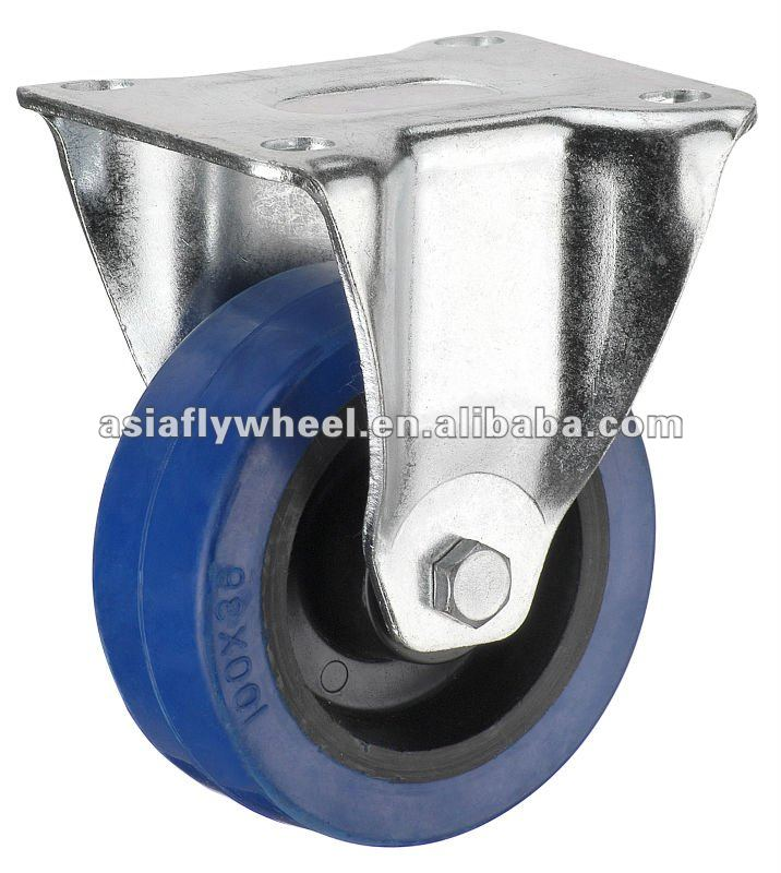 47 European type elastic rubber industrial caster wheel