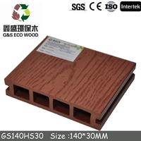2015wood plastic composite outdoor decking boards/wpc decking on the beach