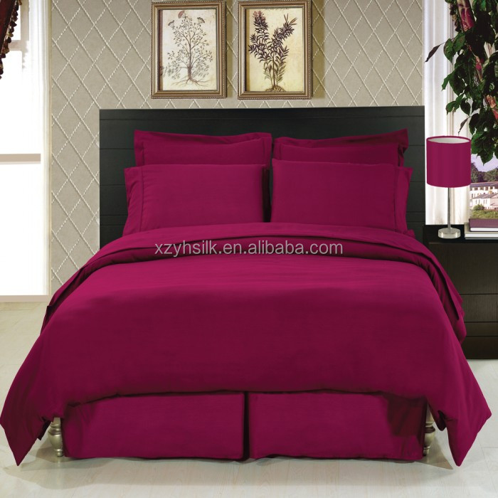 Deluxe 6 PC-Microfiber Brushed Duvet Sheet Set---Solid Color
