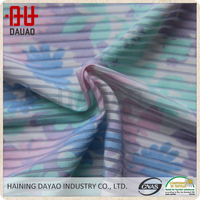 China manufacturer flower cotton printed stripe elastic fabric