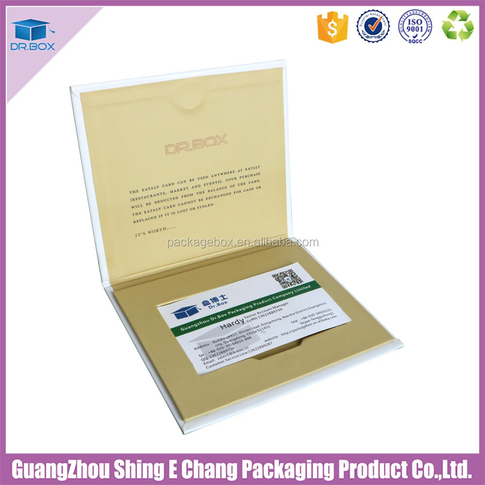 China factory promotion gift card envelope holder for gift card packaging