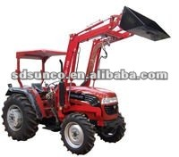 Tractor with forklift loader