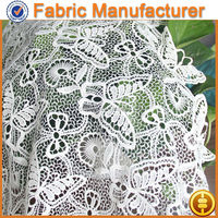 E cicheng texitle Black cotton nylon chemical lace fabric/Off white cotton nylon floral lace fabric for lady dress