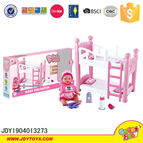 Bed And Doll Toy Bunk Plastic Doll Bed Toy
