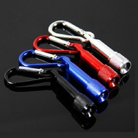 Cheap Micro Light Best Portable Keyring Customized Logo Promotional Carabiner Small Key Ring Mini Led Torch Flashlight Keychain