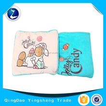 Pillow Cushion Cover Coral Fleece Blanket Nap Blanket Travelling Blanket