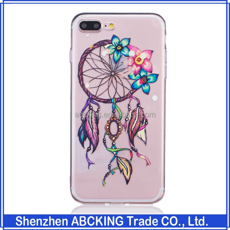 beautiful pattern colored drawing TPU mobile phone case for iPhone 7 plus soft Cover