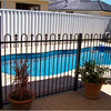Black Removable Aluminum Swimming Pool Fence