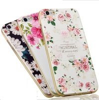 Soft 3D Embossed Printed cell phone case with dust proof for samsung s4 case