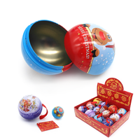 Christmas Tin Ball Different Size Can