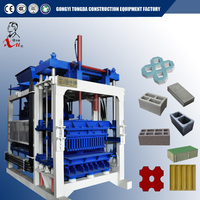 Fully automatic concrete block making machine/ cement brick production line