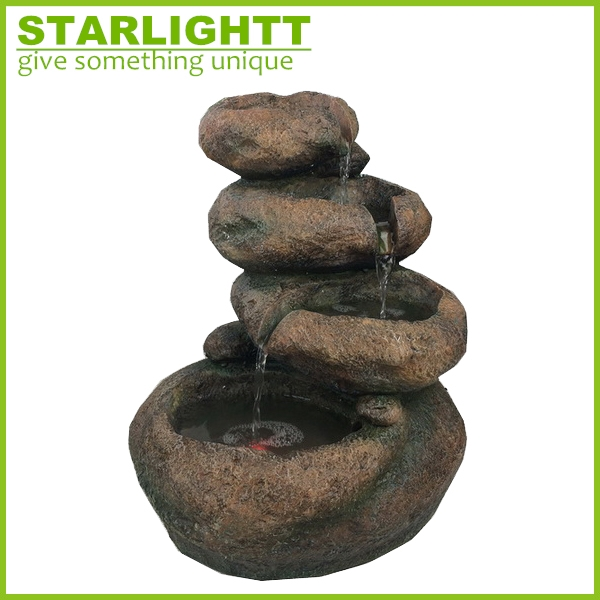chinese factory custom made handmade carved hot new products polyresin indoor fountains and waterfalls