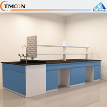 NEW design easy clean quality dental lab furniture bench chemical dental work bench with drawer