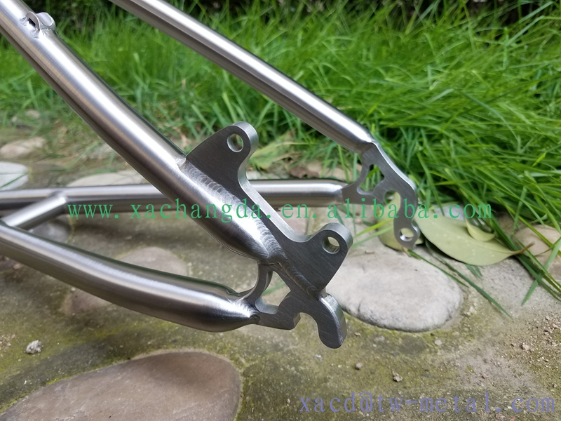 titanium mtb bike frame suit for kids with seat post customized titanium bike frame chinese made titanium bike frame