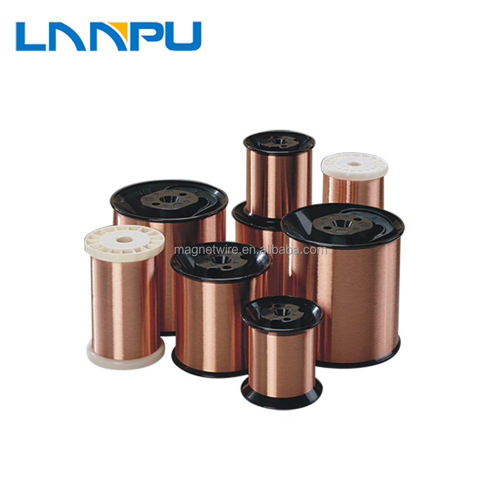 China Heat Level 180 200 220 Polyimide 15mm Enameled Copper Electric Wire Ei Aiw Power Wires Magnetic For Winding Double Motor Transformer Buy Enamel Magnet