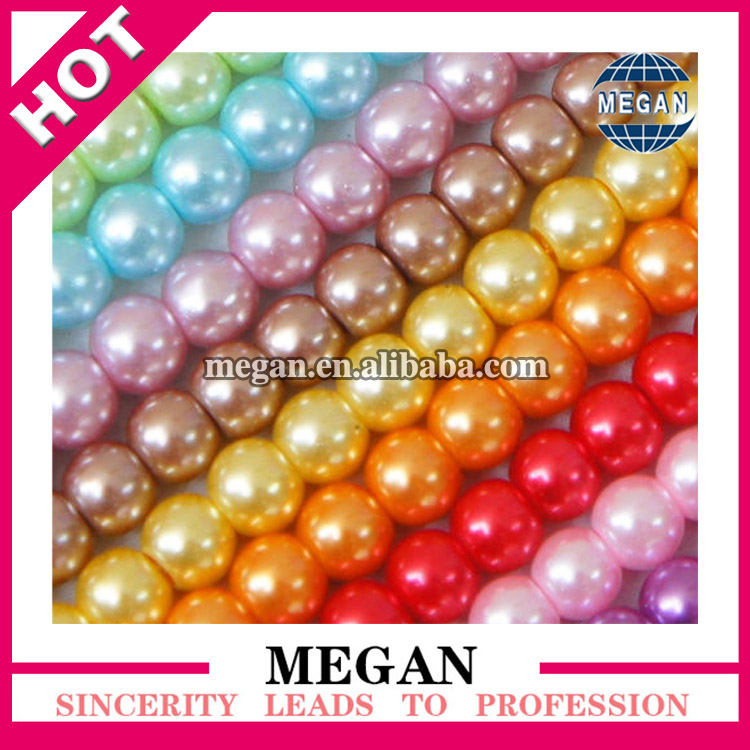 2016 Wholesale Colorful fake pearl strand beads