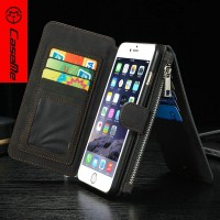 New design leather phone case credit card slots stand mobile phone back cover case for iphone 6