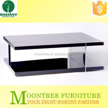 Moontree MCT-1150 china stainless steel base ebony wood coffee table