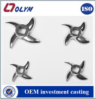 customized manufacturing precision casting oem meat grinder parts