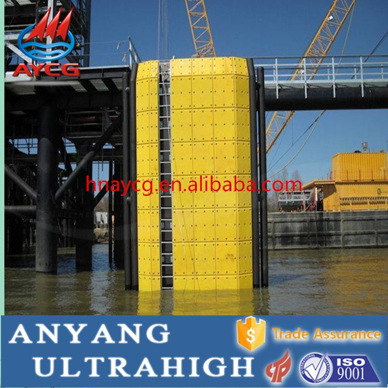 AYCG corrosion resistance impact resistance uhmwpe waterproof panel/rubber wharf fender/marine beacon dock fender