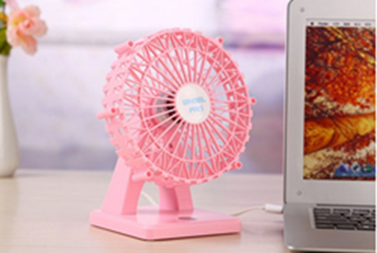 6 inch Mini USB Silent charging Handheld Desktop fan, summer mini fan