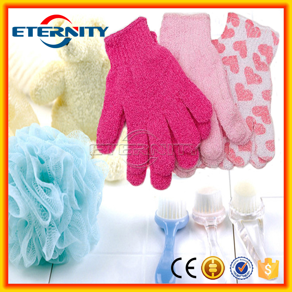 hot sales quality exfoliating skin body bath gloves