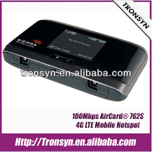New 100% Unlock 100Mbps AirCard 762S 4G LTE Mobile Hotspot,LTE 4G Wireless Router