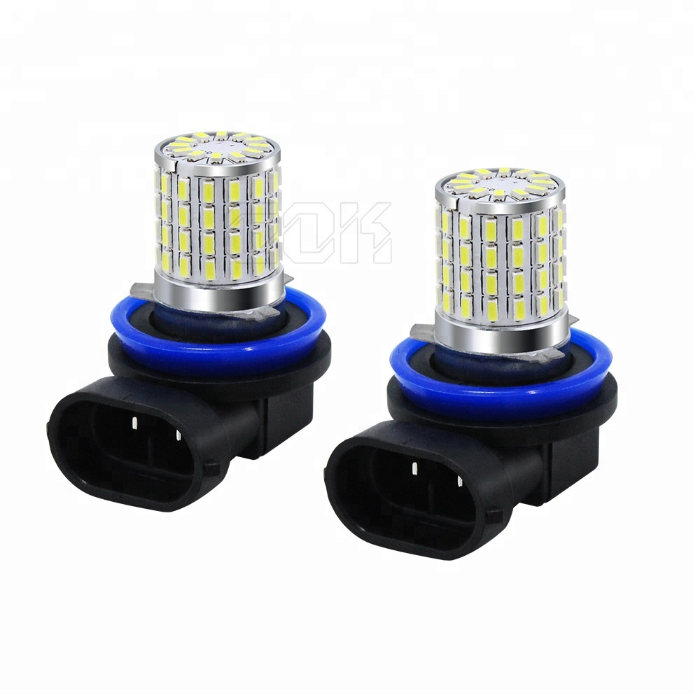 Extremely Bright H8 H11 <strong>H10</strong> HB3 9005 HB4 9006 H16 PSX24W H7 LED 72 SMD 3014 led Fog Light Bulb Lamp White