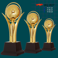 Golden customized sports trophy cup