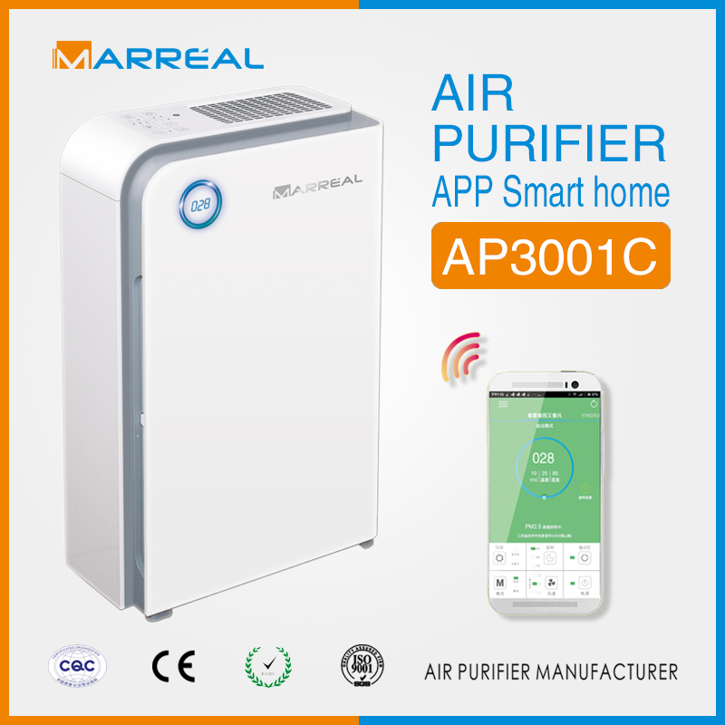 living fresh HEPA filter air purifier with wifi control air cleaner