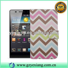 Flip Back Wallet Cell Phone Cover For Huawei P6 Custom Leather Case