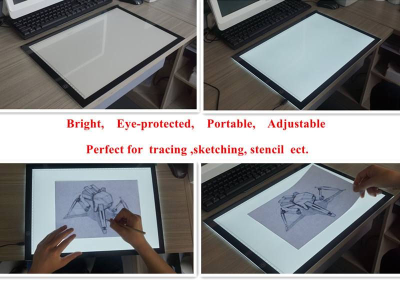 Best Price A3 LED Art craft Light up Drawing Pad Light Box Customized Ultra-thin Tattoo Sketching Stencil Tracing Light Pad