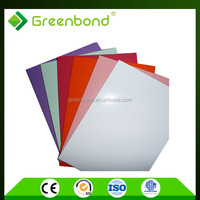 Greenbond aluminium facade panel with honey comb sheet for external wall cladding in china