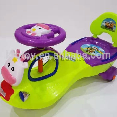 Lovely cartoon children swing car,baby swing car,child toy with music