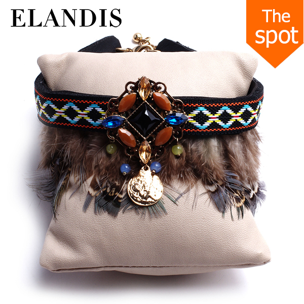 E-ELANDIS yiwu new product 2016 national bracelet feather woven bracelet BL06492
