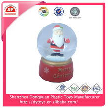 cheap 2013 christmas personalized custom antique resin penguin plastic water globe for gifts kids