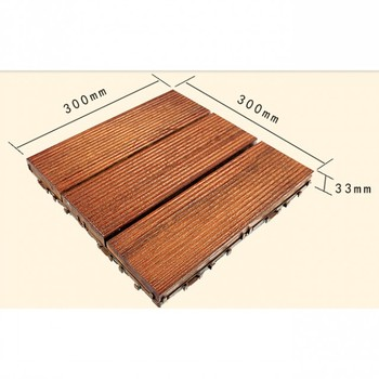 Solid Decking For Outdoor Decoration Composite Weather Resistance