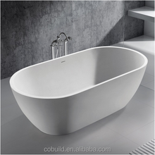 KC05 Custom size solid surface resin stone free standing bathtub, artificial stone soaking bathtub