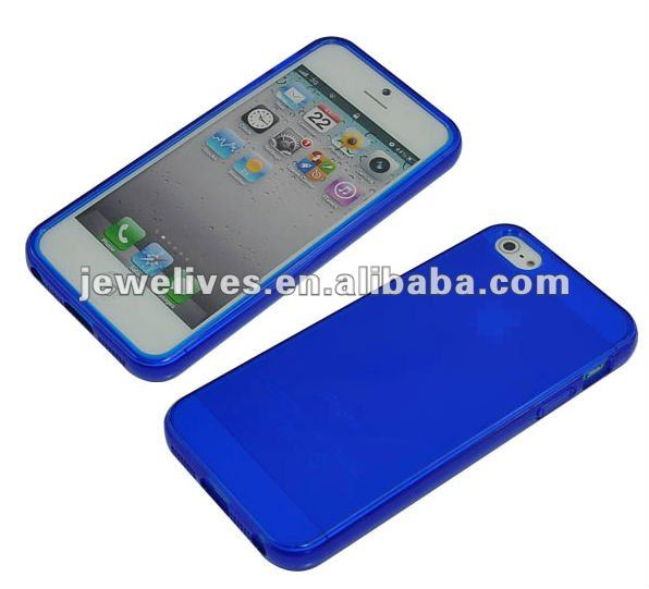 Subtransparent TPU and PC material case for iphone5 cover