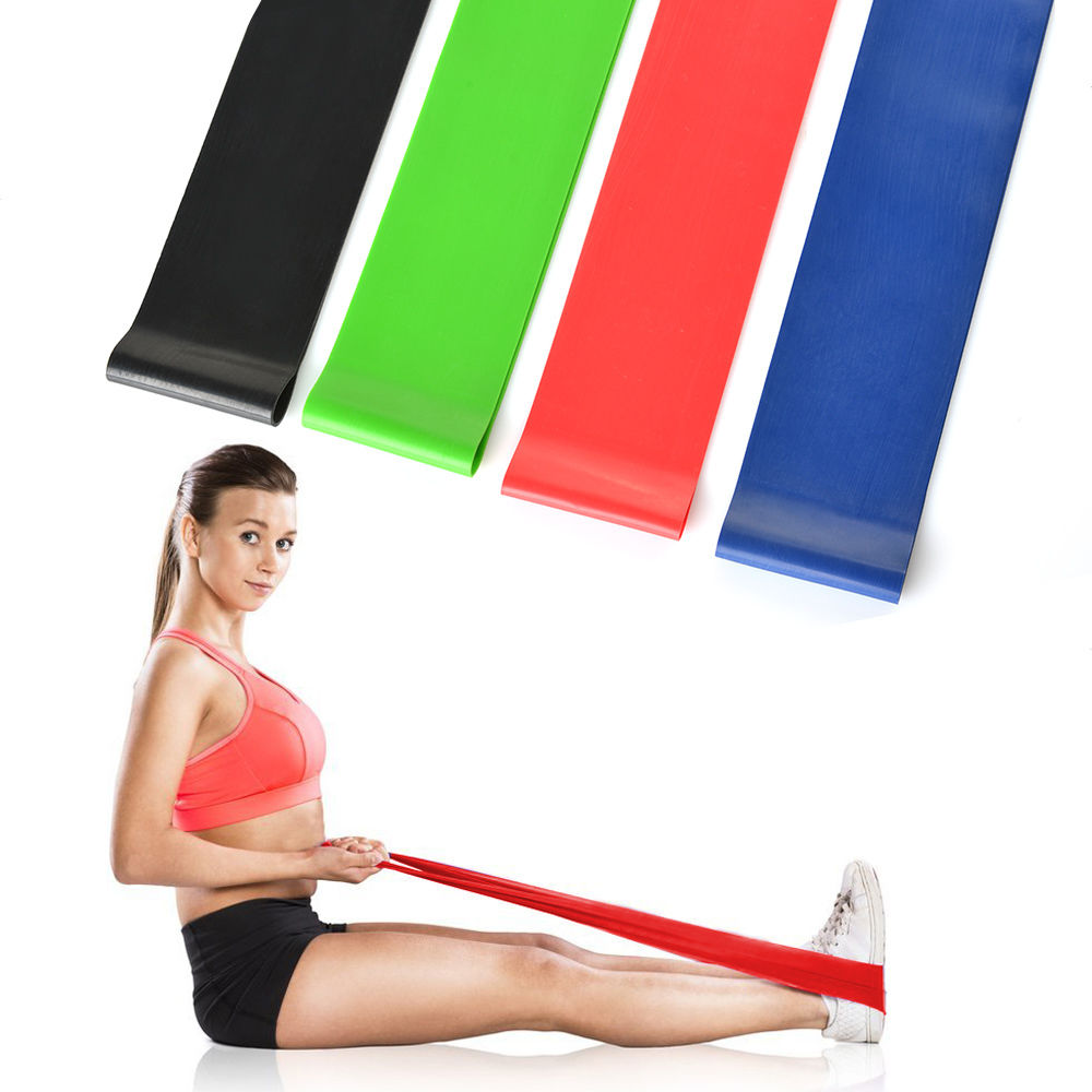 Home <strong>Fitness</strong> Stretching Physical Therapy 12 Inches Workout Resistance Bands Exercise Loops - Set of 5